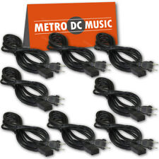 8-Pack 8 ft Power Cord IEC C9 to NEMA 1-15P for Vintage Hi Fi Audio 2 Prong NEW