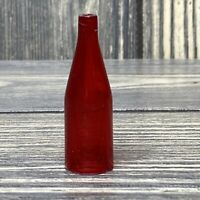 Vintage Barbie Deluxe Kitchen 1960's Clear Red Bottle Replacement Part A3