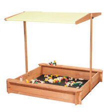 Sandkasten mit verstellbarem Dach und Sitzbank LIMONE Spielplatz für Kinder