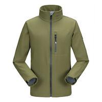 Mens Waterproof Soft Shell Jacket Fleece Lined Full Zip Outdoor Golf Travel Coat