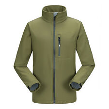 Mens Warm Fleece Lined Soft Shell Jacket Waterproof Travel Hiking Softshell Coat