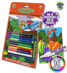 Splat Planet Dinosaur Magic Colouring Book With Magic Colour Changing Pens