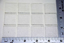 "12 CLEAR 1"" x 1"" SQUARES OF 3mm BULLSEYE SHEET GLASS CAPS TOPPERS 90 COE"
