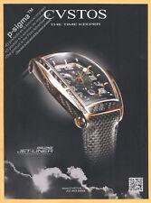 CVSTOS watch Print Ad
