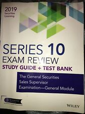 Wiley Series 10 Securities Licensing Exam Review 2019 With Test Bank : The In.