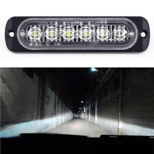 6LED White High Power Car DRL Daytime Running Light Fog Lamp Universal DC 12-24V