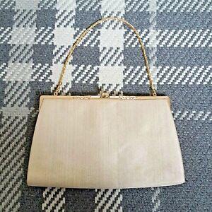 Vintage Cream/Gold Clutch Evening Bag