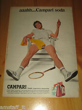 CAMPARI SODA TENNIS=ANNO 1973=PUBBLICITA=ADVERTISING=