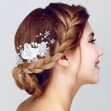 Wedding Party Bridal Headpiece Pearl Hair Comb Crystal Headband Head Clip