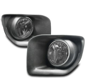 15-17 GMC CANYON PICKUP FRONT BUMPER DRIVING FOG LIGHTS LAMP SMOKE W/BEZEL+BULB