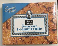 8oz See's Candies Sugar Free Peanut Brittle