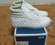 Vans 50th OG Sk-8 Hi LX Checkered Past Woven Leather Size 9.0 supreme wtaps