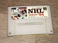 NHL 94 Hockey Nintendo Super Famicom Snes Tested Authentic US Seller