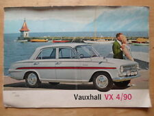 VAUXHALL VX 4/90 1962 UK Mkt Large Format Sales Brochure - FB Series