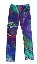 Young Versace Girl purple leggings trousers Size small 10 11 Years NWT summer