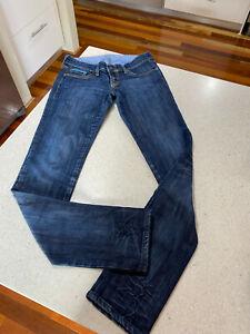 MAVI Womens Denim Jeans - Dark Wash Straight Cut - Lindy Style - Size W27 L34