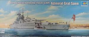 WWII GERMAN POCKET BATTLESHIP TRUMPETER 1:350 SCALE PLASTIC MODEL SHIP KIT