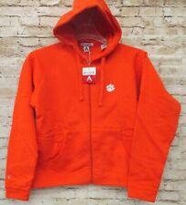 Clemson Tigers Antigua Womens Orange Full Zip Hoodie Jacket Large Licensed New