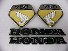 Honda CB 750 Four Sandcast und K0 Emblem Set für Tank und Seitendeckel