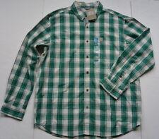 Carhartt Relaxed Fit Plaid Shirt L Long Sleeves Green Cotton Work NWT