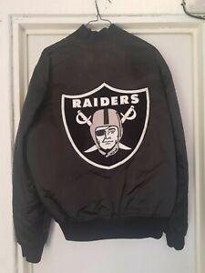 jacket nfl los angeles raiders bomber satin marca starter talla L  muy buscada