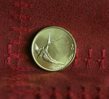1998 Slovenia 2 Tolarja Brass Coin Unc KM5 Barn Swallow Bird uncirculated