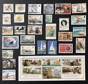 GUERNSEY Stamps 1989-1993. 28 Stamps + 1 Minisheet, Including 4 Alderney Stamps