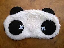 Travel Eye Sleep Mask Panda Cross Eyes With Ears (BRAND NEW)