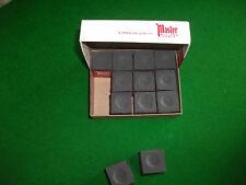 Masters Black Snooker/Pool Chalk Box of 12