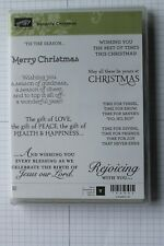 """Stampin Up Versatile Christmas set of 9 """"Retired"""" Rejoicing Jesus Our Lord Peace"""
