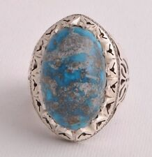 Handmade Persian Naishapur Turquoise sterling Silver Ring-Middle Eastern-DHL