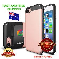 Rose Gold TPU iPhone 7 Case (With Opal Card Slider Cover) Genuine Slim PC+TPU