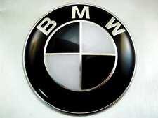 Motorhaube Emblem BMW 82mm Heckklappe Schwarz Beste Qualität !!! E46 E60 E70 F01