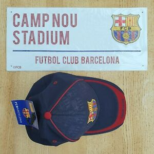 Barcelona Football Metal Street Sign with Baseball Cap New