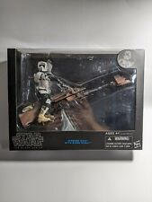 "Hasbro Star Wars Black Series SPEEDER BIKE w/ BIKER SCOUT 6"" Scale Action Figure"