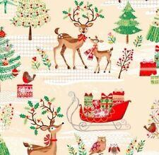 Christmas Traditional Scenic Patchworkstoffe Weihnachten Stoffe Weihnachtsstoffe