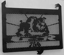 "cache / Grille de radiateur noir satiné Suzuki 750 GSR ""Bulldog"" +grillage noir"
