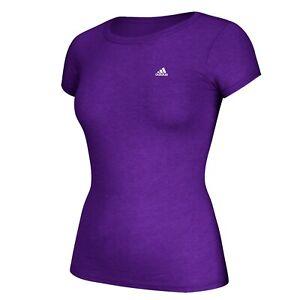 Adidas Women's EQT Performance Logo Purple Tri-Blend T-Shirt A85618