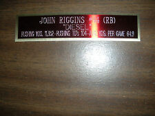 JOHN RIGGINS NAMEPLATE FOR SIGNED BALL CASE/JERSEY CASE/PHOTO