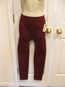NWT Pink Rose Brand Leggings Pants Nylon/Spandex BRANDY WINE COLOR  Size MEDIUM