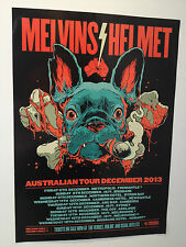MELVINS + HELMET Australian Tour Poster 2013 A2 Houdini Betty Meantime ***NEW***