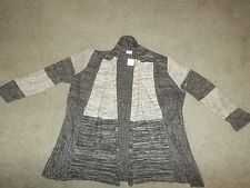 NEW CATO Plus Size 18 / 20 Brown Open Front Wrap Cover Up Cardigan Sweater