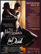 John Huston's THE DEAD__Original 1988 Trade print AD / promo__ANGELICA HUSTON