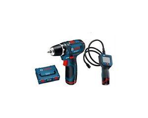 BOSCH GSR 10,8 2LI Taladro Destornillador + Gos 10,8 Li Cámara Inspección Bosch