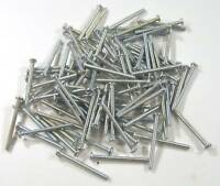 Miniature Hardware Parts 100 Pack of Small Steel Screws 2-56 x 1 Inch