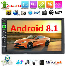 7inch Android 8.1 Double 2Din Car Stereo Radio GPS Navigation WiFi Mirror Link