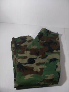Military Army Trousers Woodland Camouflage Camo Combat Pants Medium Regular