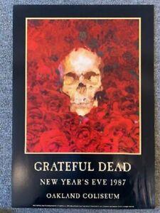 Grateful Dead Concert Poster 1987 Oakland