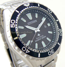 CITIZEN ECO DRIVE PROMASTER STAINLESS STEEL BAND SCUBA DIVER 200m BN0190-82E