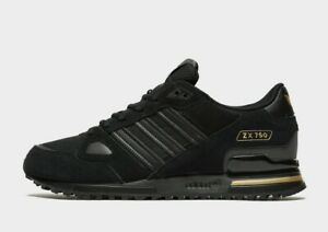 adidas Originals ZX 750 Trainers in Black and Gold Mens Shoes